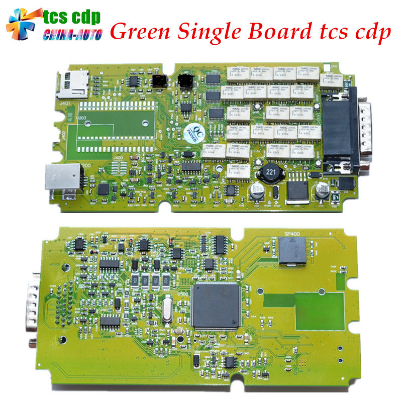 2017 Best Quality TCS cdp Single Green PCB board CDP PRO 2015.3 /2014.2 Software with Keygen for Car and Trucks Diagnostic Tool single green board multidiag pro 2014 r2 keygen