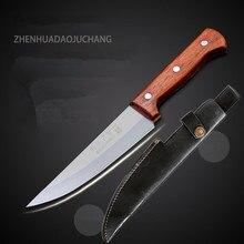 5Cr15Mov ze stali nierdzewnej profesjonalne trybowanie nóż do mięsa zabić świnia owce bydło noże uboju krwawienie narzędzie nóż rzeźnicki