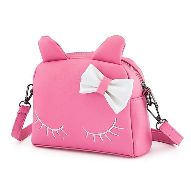 9680316a9d74 Little Girls Cute Cat Shoulder Bag Wallet Crossbody Cartoon Hand Bag With  Bow Coin Purse