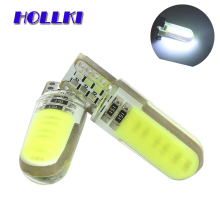1PCS T10 W5W LED car interior light COB marker lamp 12V 194 501 Side Wedge parking bulb canbus auto for lada car styling