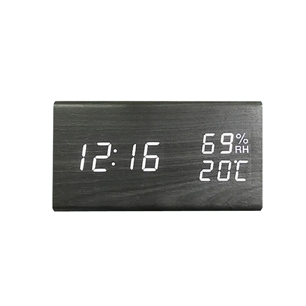 Exquisite design Wooden Digital Alarm Clock with 3 Levels Adjustable Brightness/3 Groups of Alarm #33305