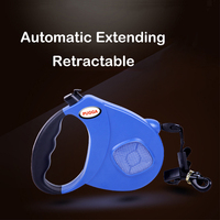 5M 8M Reflective Retractable Dog Lead Leash Night Luminous Dog Training Strap Belt For Small Large