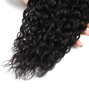 Image 5 - Alisky Malaysische Wasser Welle Haar 4 Bundles Mit Verschluss 100% Menschliches Haar Verschluss Hand Gebunden Remy Haar Mittleren/Freies/drei Teil Hohe