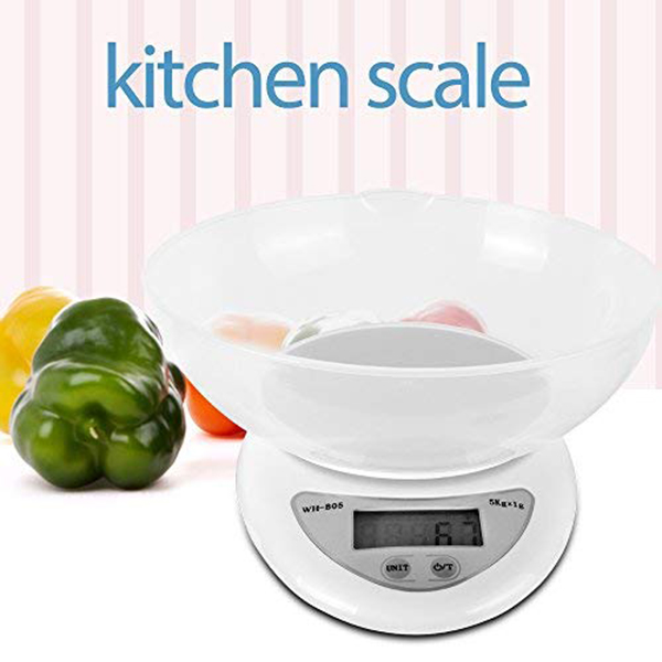 Digital Kitchen Food Weight Scale 11LB/5kg With Removable Bowl FP8