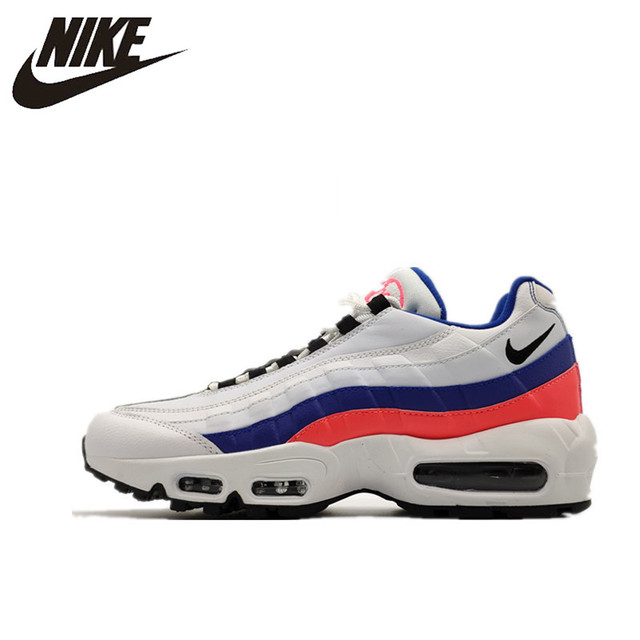 95 originais Nike Air Max Tênis de Corrida dos homens, Tênis Ao Ar Livre Sapatos, Resistente À Abrasão, absorção de choque Não-slip