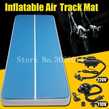 Free Shipping 6x1x0.2m Blue Inflatable Gymnastics Mattress Gym Tumble Airtrack Floor Tumbling Air Track For Sale free shipping 8x2x0 2m airtrack trampoline mat inflatable jumping air tumble track inflatable gym airtrack for sale