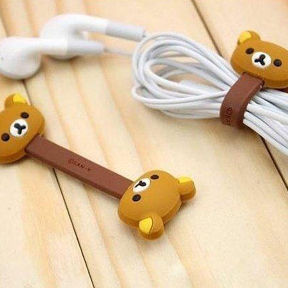 Organizer Holder 1 pack of 2pcs Cute Animal Cartoon Earphone Winder Cable Cord