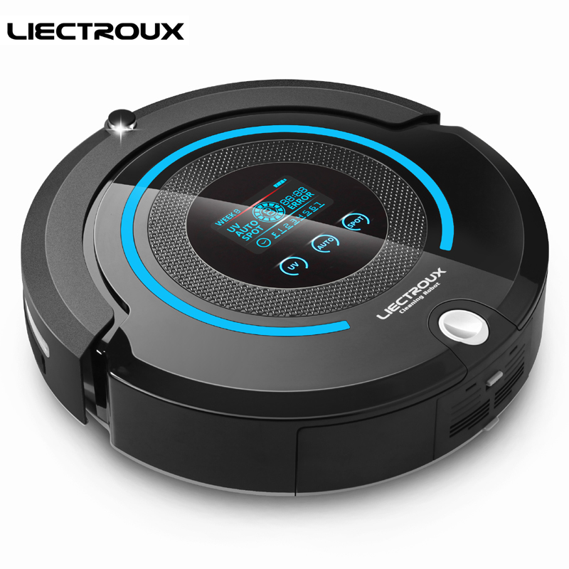 LIECTROUX A338 Auto Best Robot Home Vacuum Cleaner with SelfCharge Smart Sweeping Dust Floor Robotic Aspirator With Wet/Dry Mop free to all liectroux b2005plus wet and dry mop robot vacuum cleaner with selfcharge home smart remote control cleaning robot