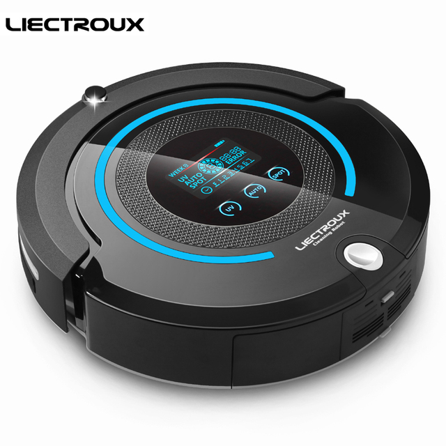 LIECTROUX A338 Auto Best Robot Home Vacuum Cleaner with SelfCharge Smart Sweeping Dust Floor Robotic Aspirator With Wet/Dry Mop