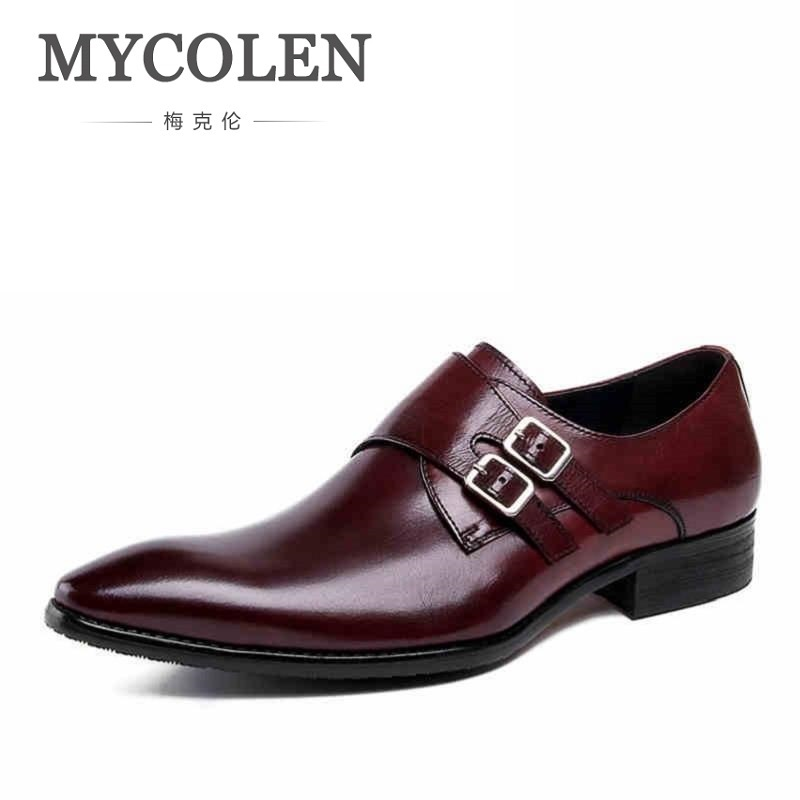 MYCOLEN Handmade Vintage Retro Genuine Leather Dress Wedding Office Party Luxury Design Flat Breathable Pointed Toe Mens ShoesMYCOLEN Handmade Vintage Retro Genuine Leather Dress Wedding Office Party Luxury Design Flat Breathable Pointed Toe Mens Shoes