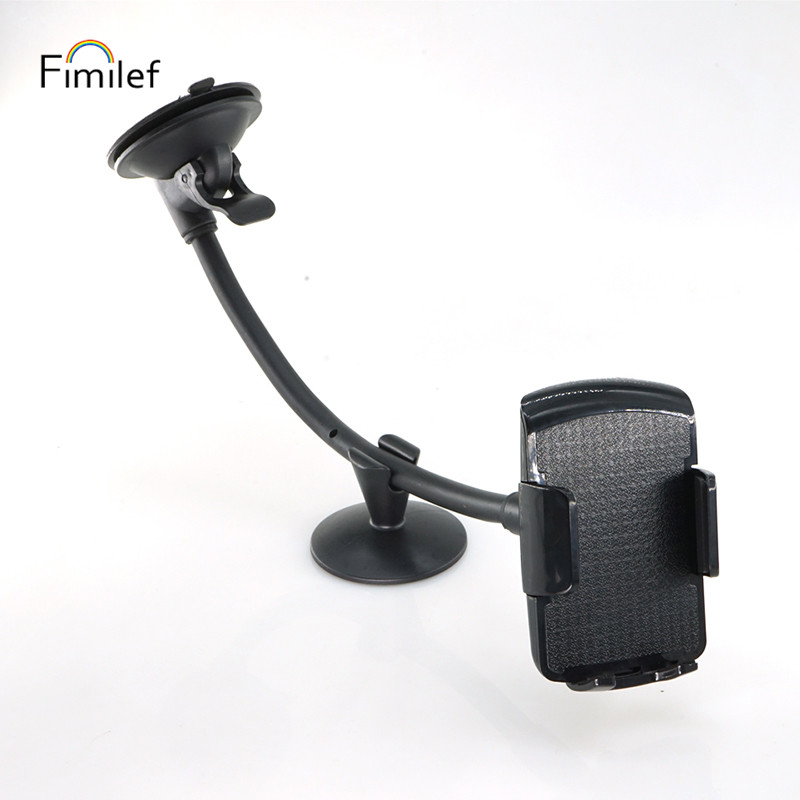Fimilef Cell Phone Holder for Car Windshield Long Arm Car Phone Mount  Sturdy Sticky Gel Suction Cup Cell Phone Holder with 360 Phone Holders & Stands     - title=