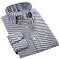 2017 Высокое качество оксфорд полосатый мужская рубашка с длинными рукавами отложным воротником Регулярные пошив мужской плед случайный рубашки