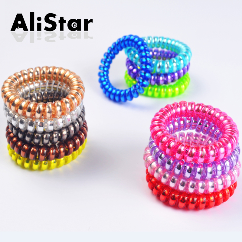 Big extra thick Telephone Wire Hair bands Fashion Candy Color Rubber  Elastic Hair Ropes Ties Women s Hair Accessories  JH047-01 70cc7f3bc02