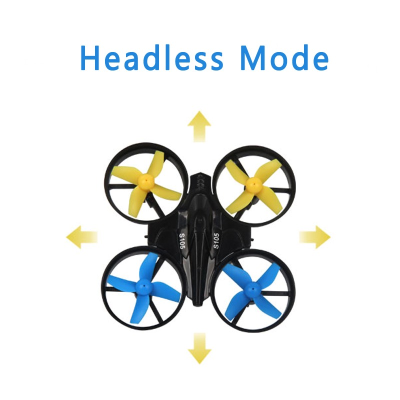 EBOYU(TM) S105 2.4GHz 4CH 6-axis RC Drone with Gyro 3D Roll Speed Switch LED Light Protective Frame Mini RC Quadcopter RTF
