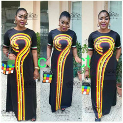 2018 Size(L-3XL)African Dashiki New Dashiki l Fashion Design Super Elastic Party Plus Size  For Lady(CPWH#)