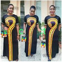 2018 größe (L-3XL) african Dashiki Neue Dashiki l Mode-Design Super Elastische Party Plus Größe Für Dame (CPWH #)