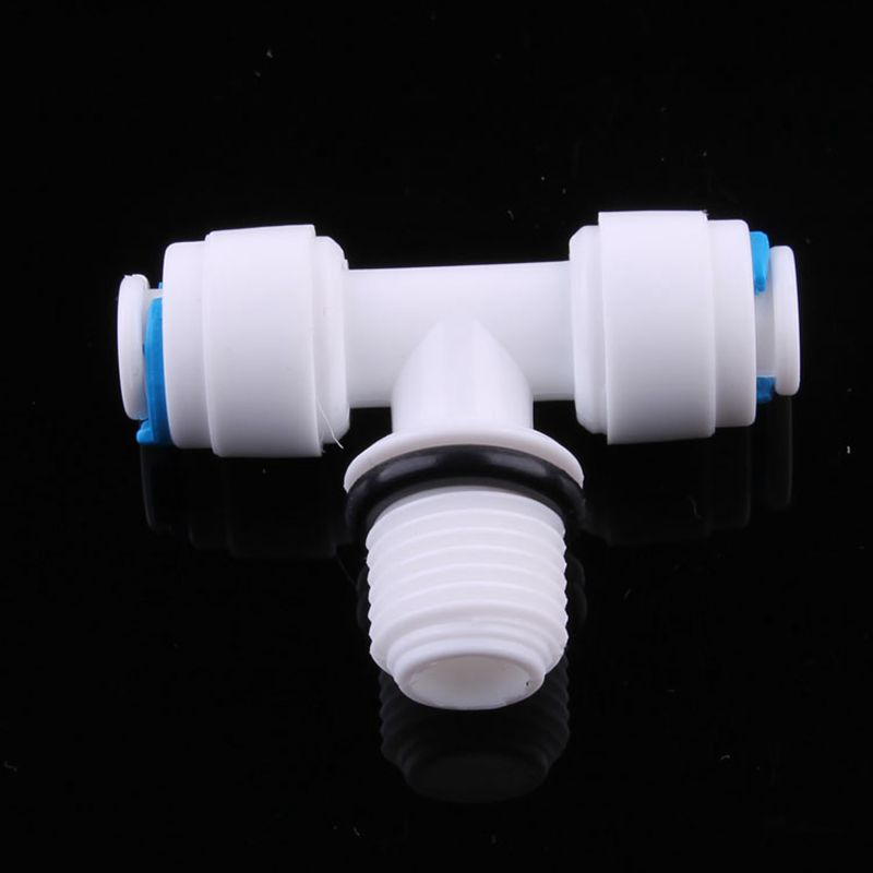1 4 quot Tube 1 4 quot Male 1 4 quot OD Tube Tee Type Pipe Fitting Quick Connector Sealing Aquarium RO Water Filter Reverse Osmosis in Pipe Fittings from Home Improvement