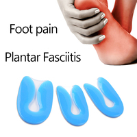 100 Silicone Gel U Shape Plantar Fasciitis Heel Protector Spur Cushion Pad Shoe Inserts Insole For