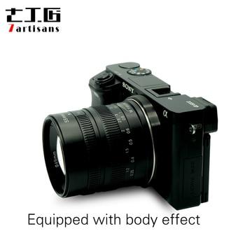 7artisans 55mm F1.4 Large Aperture Portrait Manual Focus Micro Camera Lens Fit for Canon EOSM sony E-Mount Fuji FX Amount lens 1