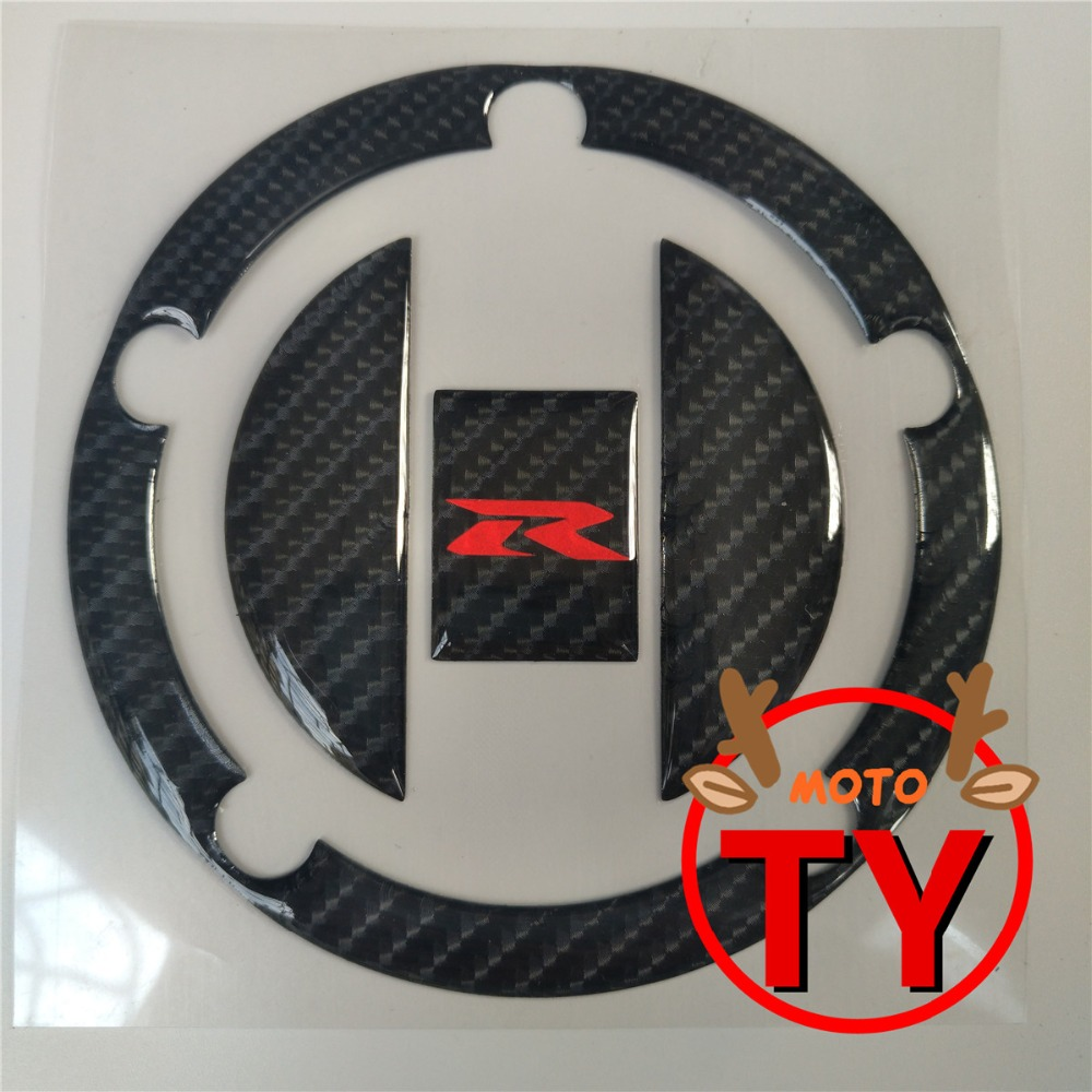 Reflective New Carbon Fiber Fuel Gas Tank Cover Pad Sticker Decal for Suzuki GSX-R GSXR 600 750 1000 SV650S 1000S 1 Piece