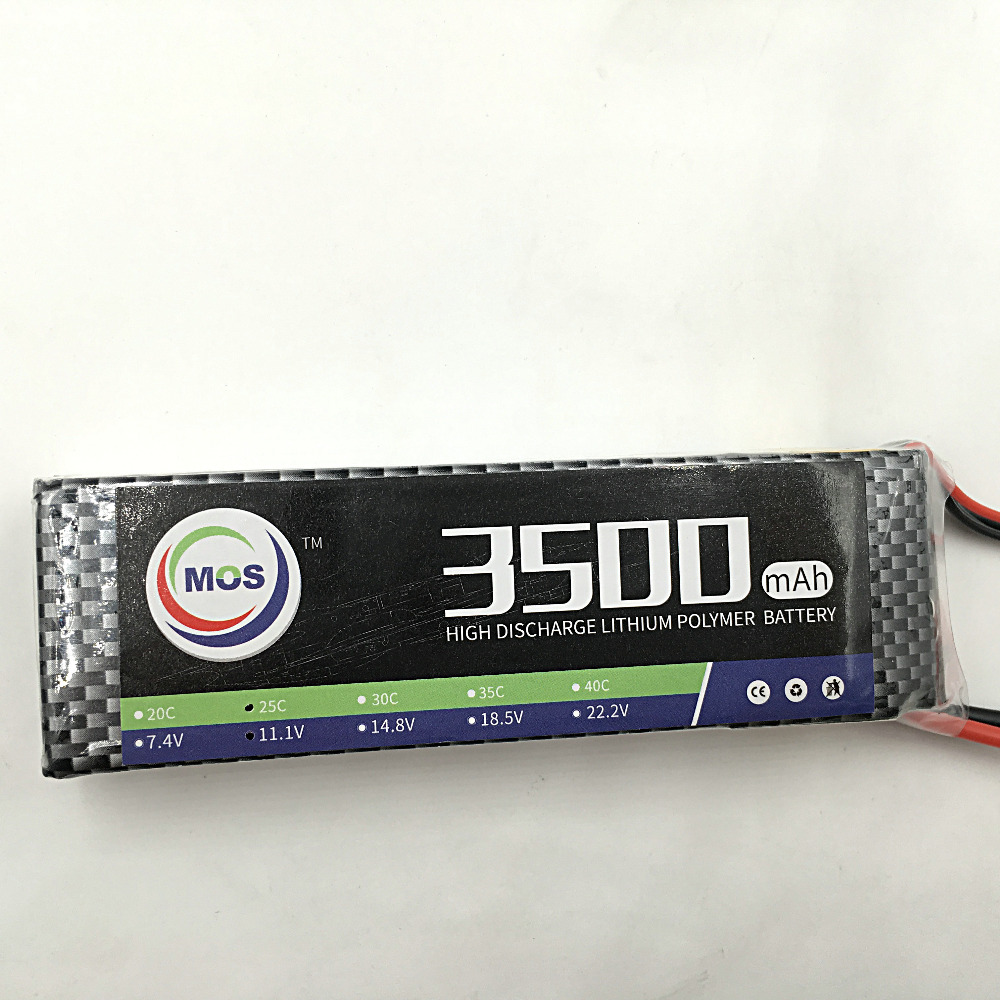 MOS 3S lipo battery 11.1v 3500mAh 30C For rc helicopter rc car rc boat quadcopter Li-Polymer battey mos 4s lipo battery 14 8v 2200mah 30c for rc helicopter rc car rc boat quadcopter li polymer battey