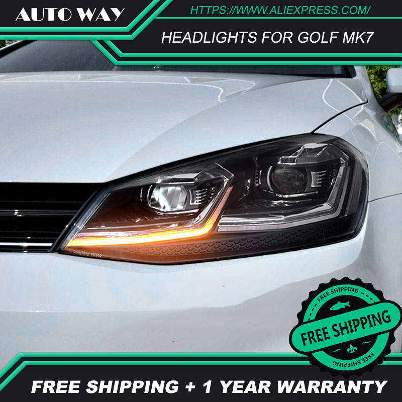 Image 2 - Car Styling Head Lamp for VW Golf7 Headlights Golf 7 MK7 MK7.5 2013 2017 LED Headlight H7 D2H Hid Angel Eye Bi Xenon Beam-in Car Light Assembly from Automobiles & Motorcycles