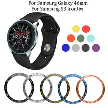 For Samsung Galaxy 46mm/Gear S3 Frontier Silicone watch band 22mm replacement watches Strap Ring Protect Case for 46mm