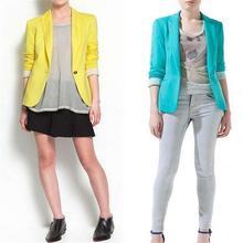 Ярдов blazer рабочая пиджаки конфеты куртки дамы куртка тонкий костюм цвет