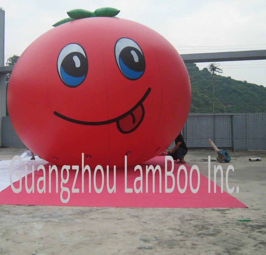 Горячая милый надувной помидор гелий воздушный шар для продвижения с его специальной улыбкой/