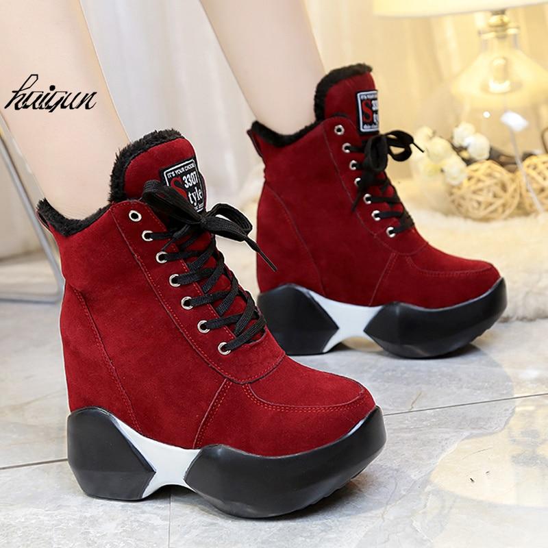 Invierno Del Alta 11 negro rojo Ascensor Los Black Con Zapatos Pu Cm Militar Para Casuales Calzan Mujeres verde Ultra xXXSfY