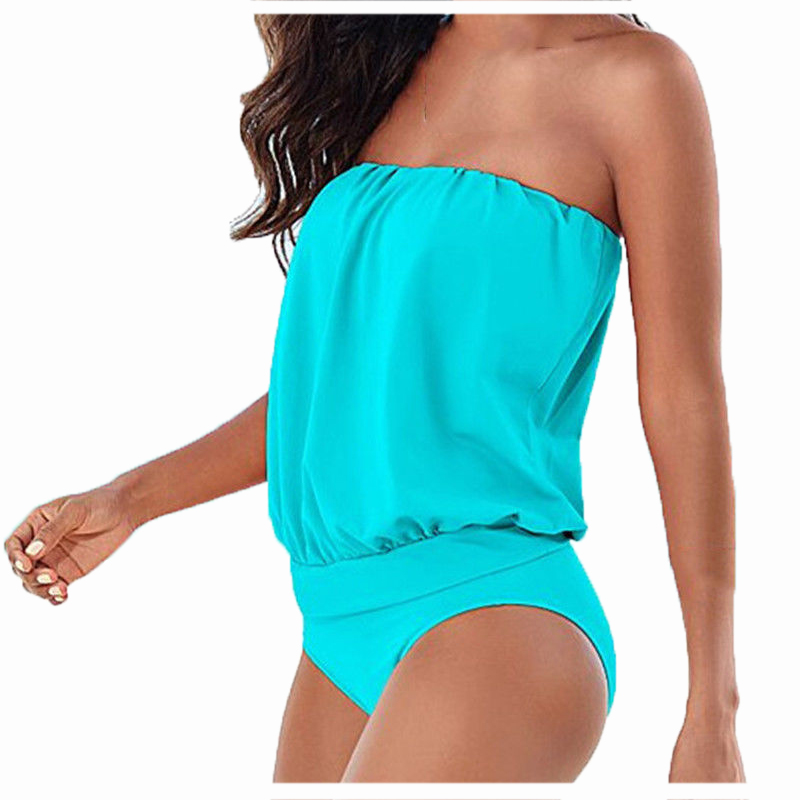 H -OFICIAL Store Hot woman Tube Top Strapless Sexy  swimsuit Blue S