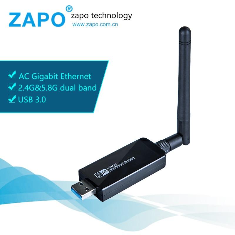 ZAPO Brand 1200M USB 3 0 WiFi Wireless Network Card 802 11 ac b g n