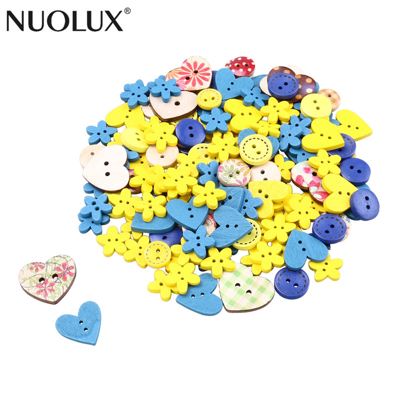 Christmas Accessories Wooden Buttons Wedding Decoration Scrapbooking DIY Crafts