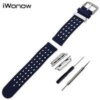 Silikon armband für 38mm 42mm iwatch apple watch gummiband double side tragen bügel-armbanduhr gürtel armband + adapter