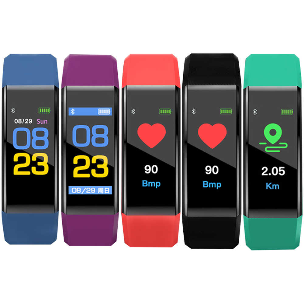 Smart Band Heart Rate Monitor Blood Pressure High Brightness Colorful Screen Smart Wristband Notification Bracelet