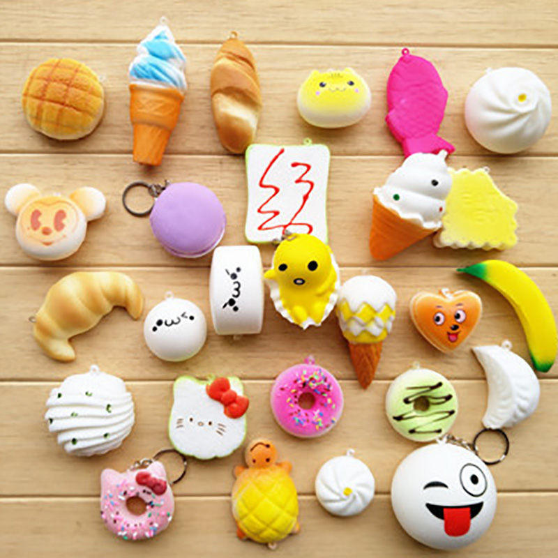 10/20/30 pcs Food Squishy Toy Antistress Ball Squeeze Fun Joke Rising Toys Abreact Soft Sticky Squishi Stress Relief Toys Funny