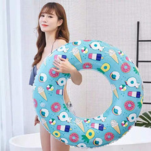 Donut Inflatable Unicorn Swimming Ring Pool Float Toys Party Decoration Circle Kids Lifebuoy Adult Equipment
