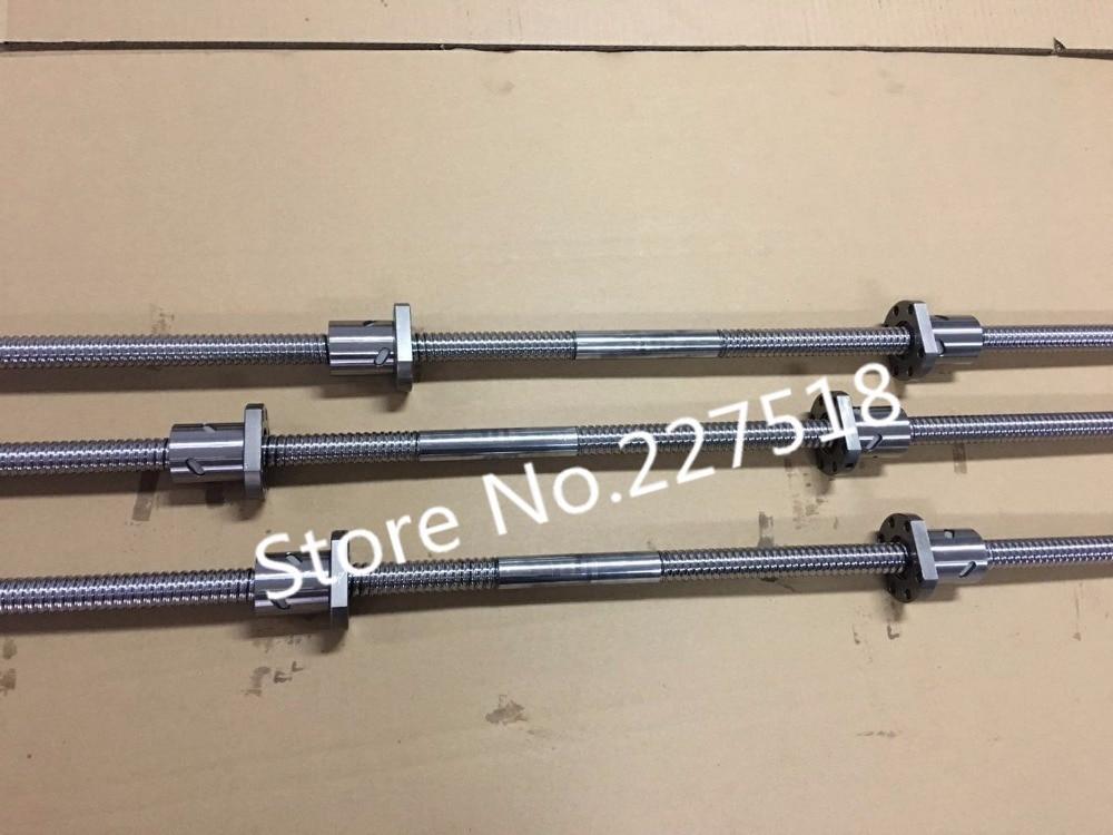 5 ensembles Gauche fil vis à billes SFU2505 206mm Butt (bout à bout de) 5 ensemble Droit fil vis à billes SFU2505 144mm