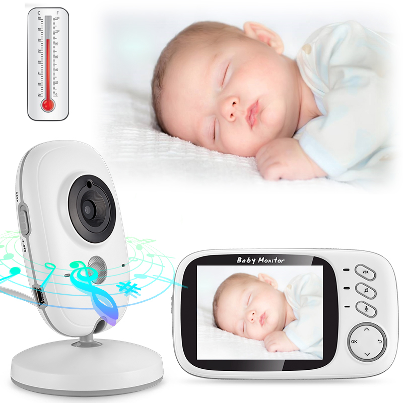 3 2 Wireless Baby Audio Monitor With Camera Audio Video Baby Camera Portable Baby Temperature Monitor