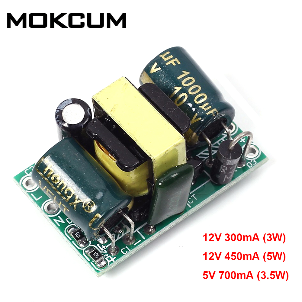 DC 12V <font><b>5V</b></font> 3-5W AC-DC Step Down <font><b>Power</b></font> <font><b>Supply</b></font> Voltage Buck Converter Module Driver Over Current Protection Switch <font><b>power</b></font> module image