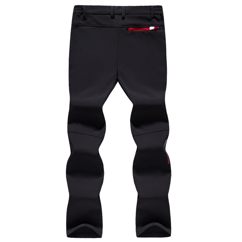 Image 3 - Tactical Waterproof Pants Men Breathable Stretch Softshell Fleece Lined Pants Outdoors Sports Plus Size 4XL 5XL Autumn Winter-in Casual Pants from Men's Clothing