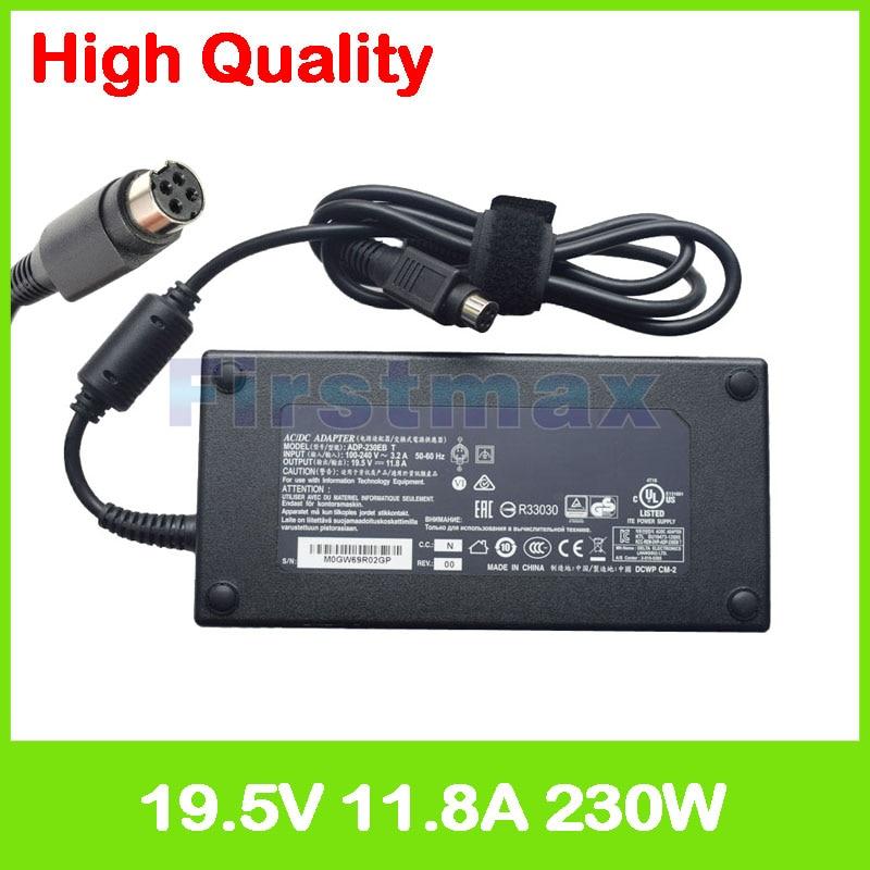 Slim 19.5V 11.8A ac adapter laptop charger ADP-230EB T for Clevo P178SM P750ZM P751DM2-G P770ZM-G P771ZM P775DM-G X8100 P771DM цена