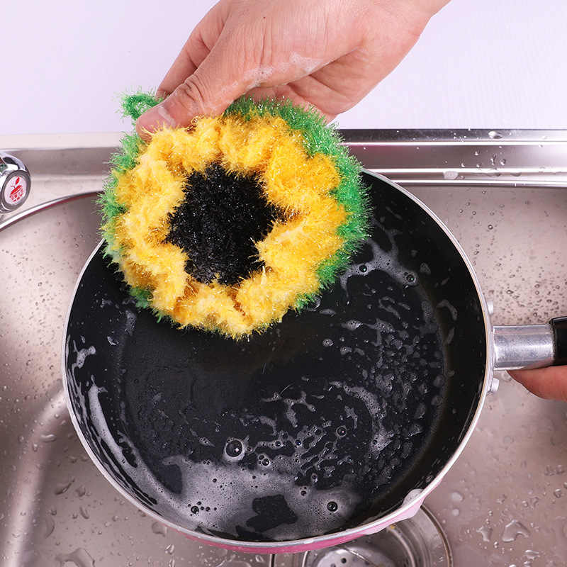 Lot Korea Sunflower Dish Cloth Acrylic