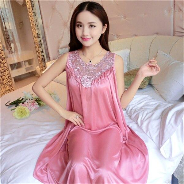 Hot Women Night Gowns Sleepwear Nightwear Long Sleeping Dress Luxury Nightgown Women Casual Night Dress Ladies Home Dressing Z79 26