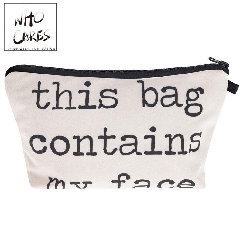 this bag contains 3D Print Women Cosmetics Bags trousse de toilette 2018 neceser Organizer Maleta de Maquiagem vanity Makeup Bag dinosaur print makeup bag