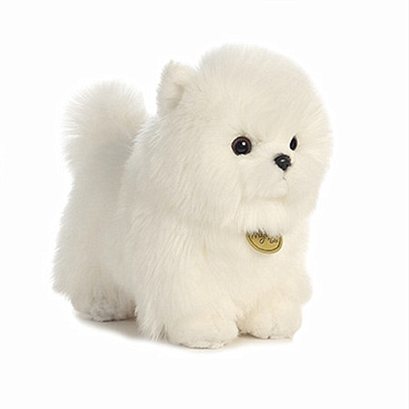Toys Dog Breed with a Long Silky White Coat Long Plush Pomeranian Bichon Frise Poodle Dogs Funny Doll for Children Birthday Gift high quality resin bichon frise dog figure car styling home room decoration love poodle decorative article christmas gift toy