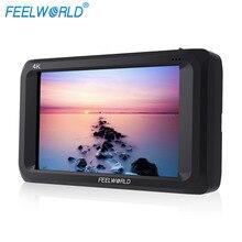 """FEELWORLD S450-M 4.5 дюймов IPS 4 К HDMI 3G-SDI на камеру поле монитор 4.5 """"1280×800 Камера Внешний ЖК-дисплей монитор с peakingfocus"""