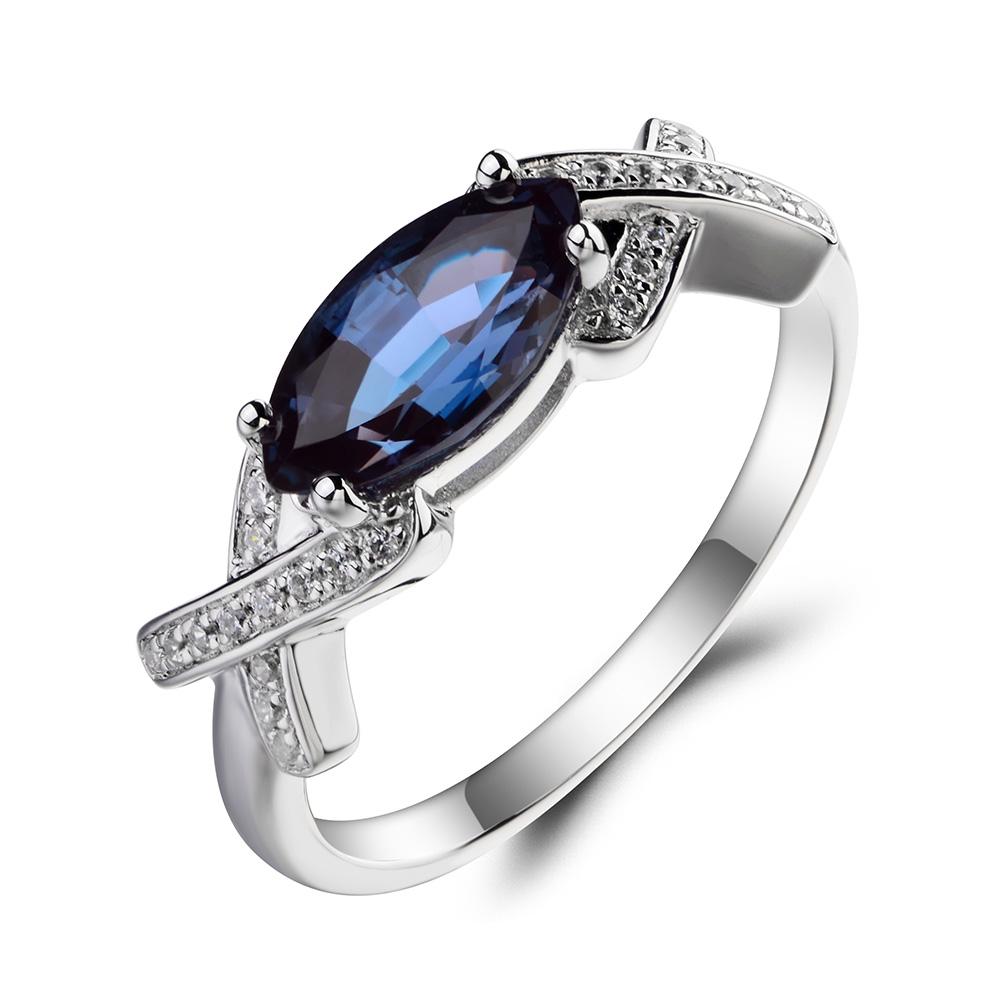 Leige Jewelry Alexandrite Engagement Ring Alexandrite Ring June Birthstone  Marquise Cut Color Changing Gems 925 Sterling Silver In Rings From Jewelry  ...