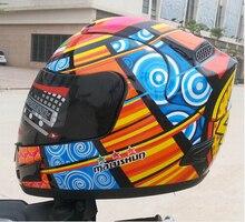 (1 unid) Aprobado Por el DOT NO. 46 Marushun Valentino Rossi Casco de la Motocicleta de la Cara Llena Cascos Capacete Moto de Carreras De Karts Casco