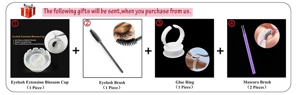 99a7f27381a LAGEE J B C CC Curl natural individual eyelash extension 7-15 mm mixed tray  premium Glossy Black fake false eye lashes cilios